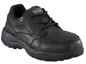 Rockport Works Extreme Light Casual 3-Eye Oxford Work Shoes - Composite Toe, Black, hi-res