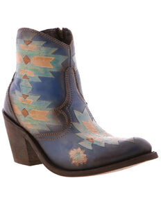 Liberty Black Women's Pollock Sky Fashion Booties - Round Toe, Blue, hi-res