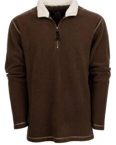 STS Ranchwear Men's Chocolate Cogburn Fleece Pullover Sweatshirt , Chocolate, hi-res