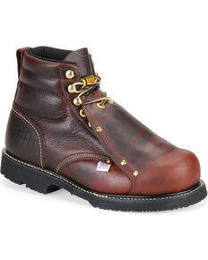 Carolina Men's Brown Domestic External MetGuard Boots - Steel Toe, Brown, hi-res
