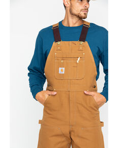 Carhartt Duck Bib Overalls, Brown, hi-res
