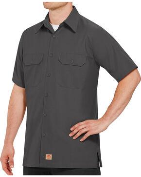 Red Kap Men's Solid Color Rip Stop Short Sleeve Work Shirt - Big & Tall, Charcoal Grey, hi-res