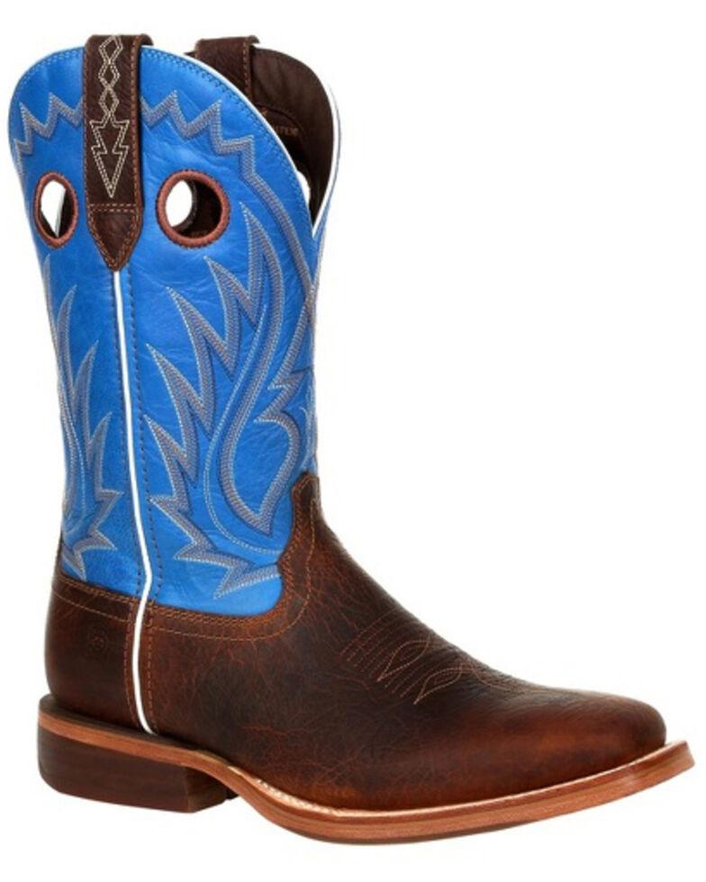 Durango Men's Arena Pro Brilliant Blue Western Boots - Square Toe, Brown, hi-res