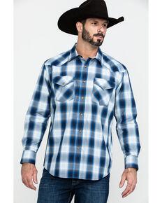 Pendleton Men's Frontier Long Sleeve Plaid Shirt , Blue, hi-res
