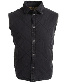 STS Ranchwear Men's Black Yellowstone Vest - Big , Black, hi-res