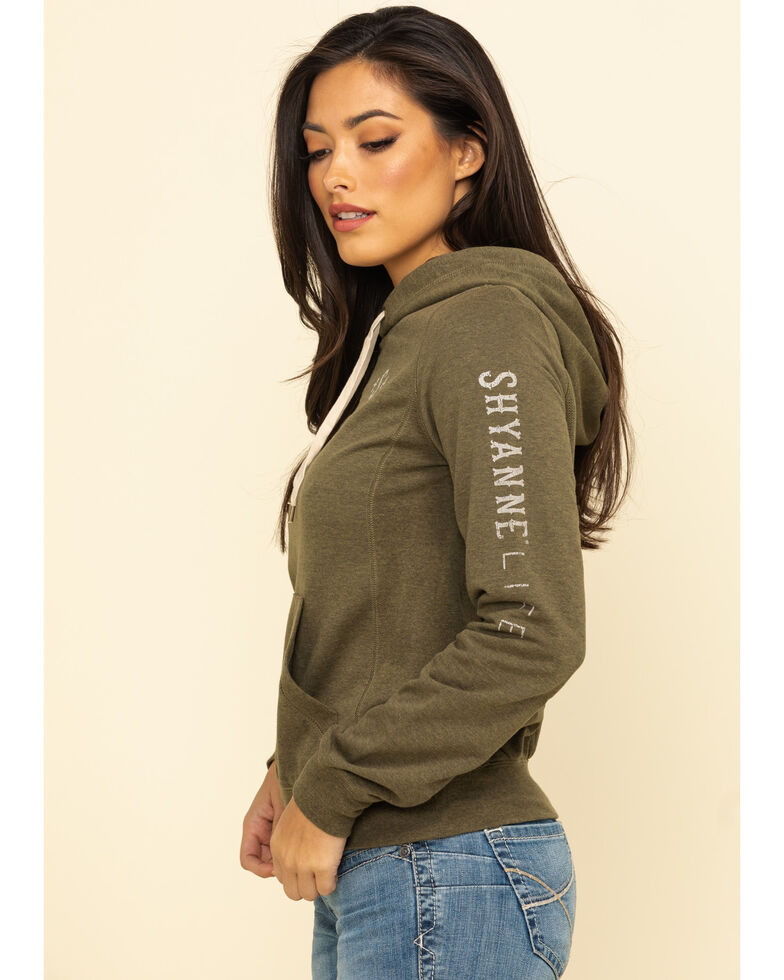 Shyanne Life Women's Solid Logo Hoodie , Olive, hi-res