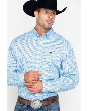 Cinch Men's Blue Intricate Print Western Shirt , Light Blue, hi-res