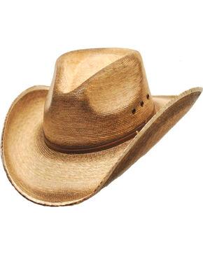 Western Express Men's Fritz Palm Leaf Cowboy Hat, Tan, hi-res