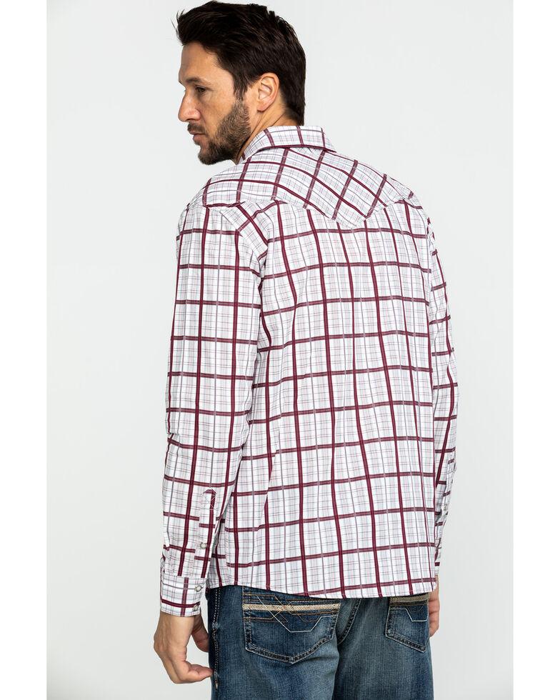 Cody James Men's Far Country Med Plaid Long Sleeve Western Shirt , White, hi-res
