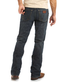Wrangler Retro Men's Falls City Dark Relaxed Boot Jeans , Blue, hi-res
