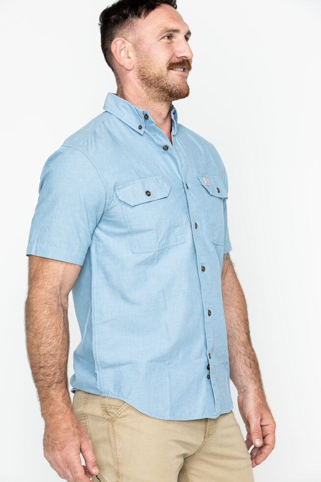 Carhartt Fort Short Sleeve Work Shirt, Chambray, hi-res