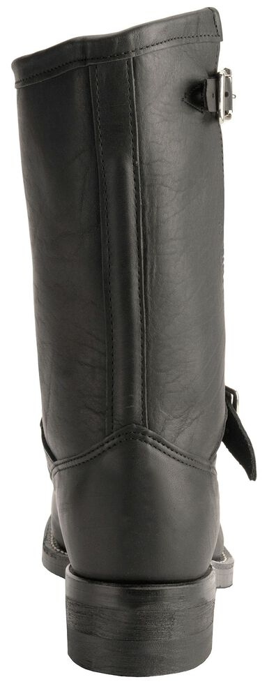 Chippewa Black Leather Bomber Motorcycle Boots - Steel Toe, Black, hi-res