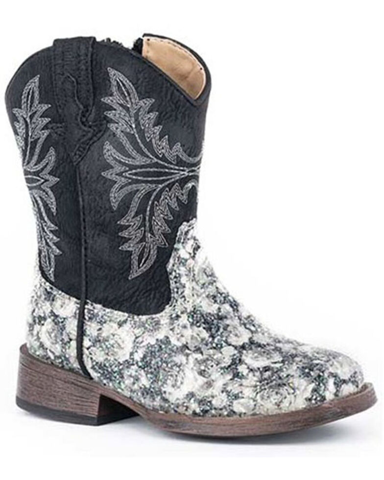 Roper Toddler Girls' Claire Western Boots - Square Toe, Black, hi-res
