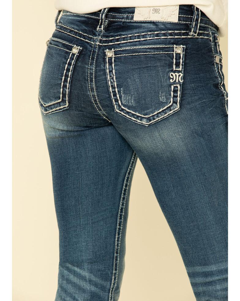 "Miss Me Women's Medium Basic Tonal Heavy Stitch 32"" Bootcut Jeans , Blue, hi-res"