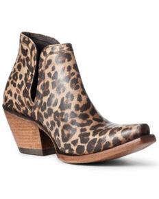 Ariat Women's Dixon Leopard - Snip Toe, Brown, hi-res