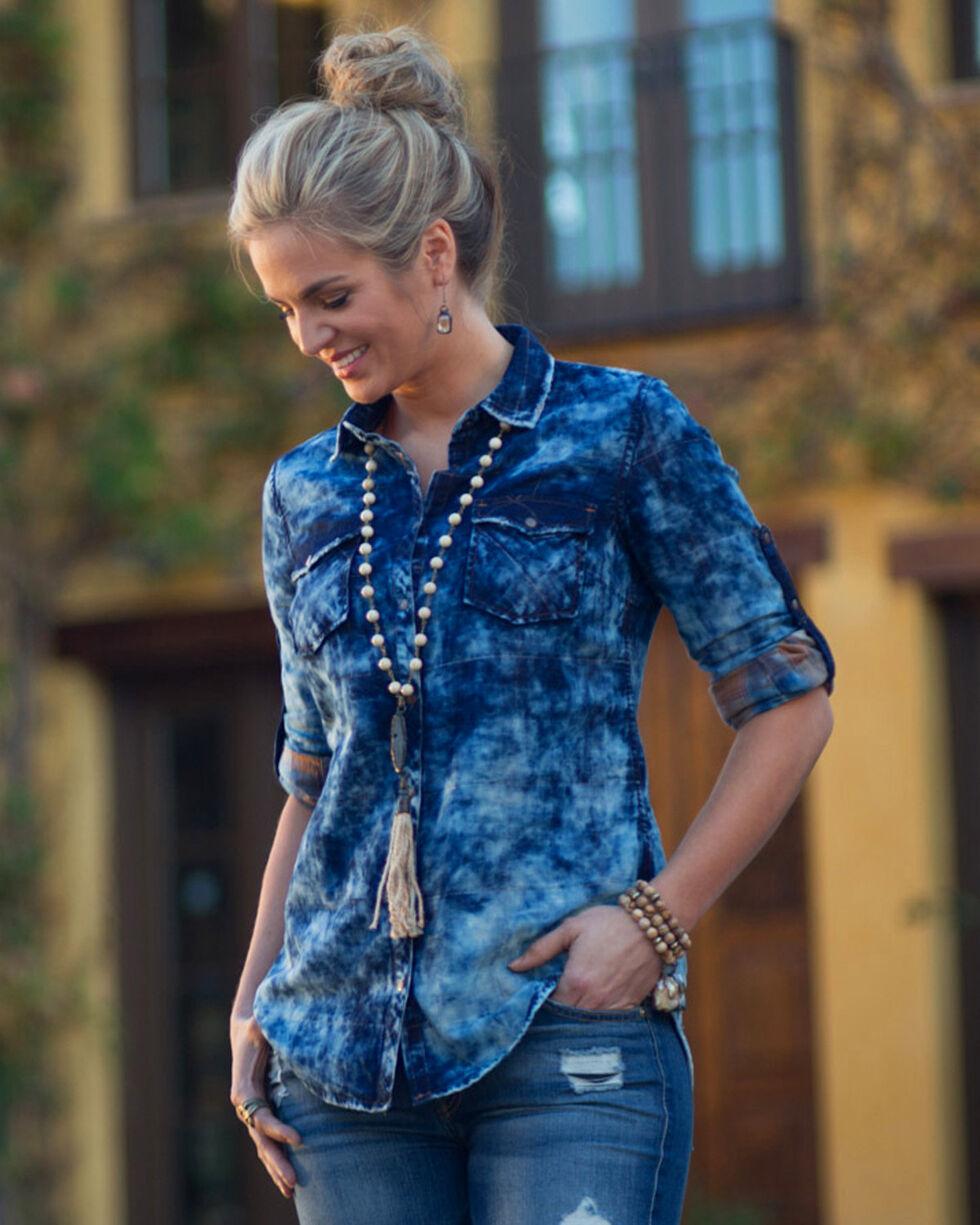Ryan Michael Women's Indigo Double Cloth Shirt , Indigo, hi-res