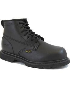 """Ad Tec Men's 6"""" Lace Up Uniform Boots - Composite Toe, Black, hi-res"""