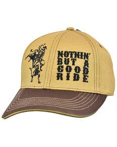Cowboy Hardware Men's Camel & Brown Good Time Embroidered Ball Cap , Tan, hi-res