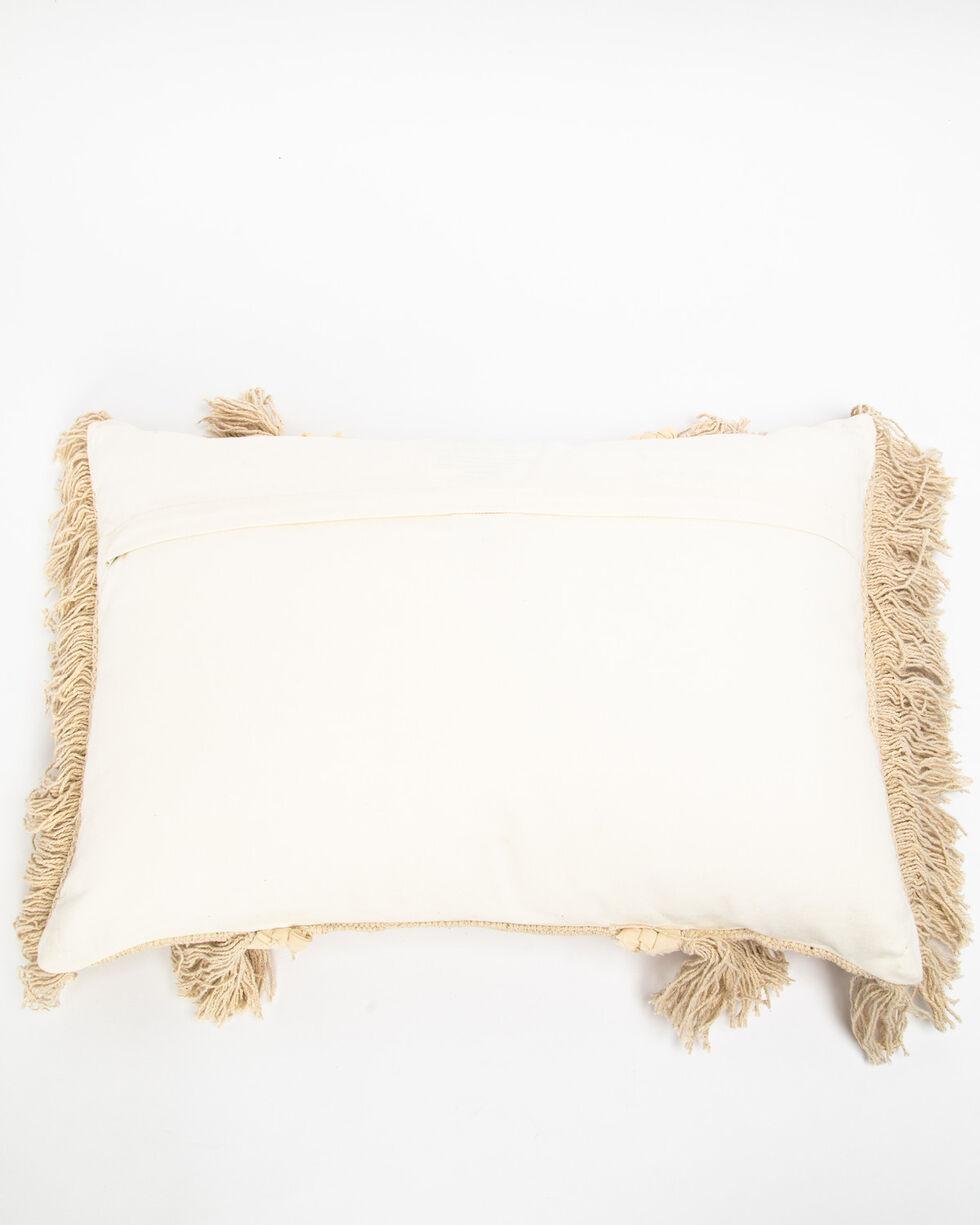 BB Ranch Woven Fringe Pillow , White, hi-res