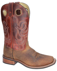 Smoky Mountain Timber Brown Western Boots - Square Toe, Brown, hi-res