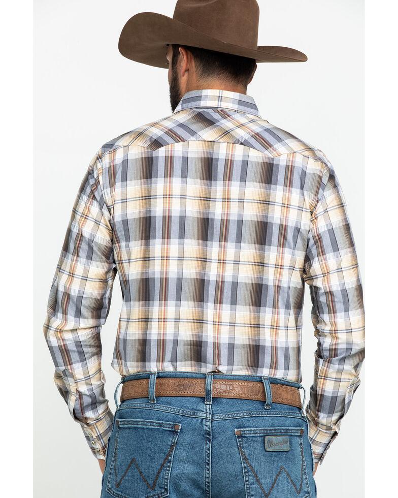 Wrangler Retro Men's Yellow Plaid Long Sleeve Western Shirt , Yellow, hi-res