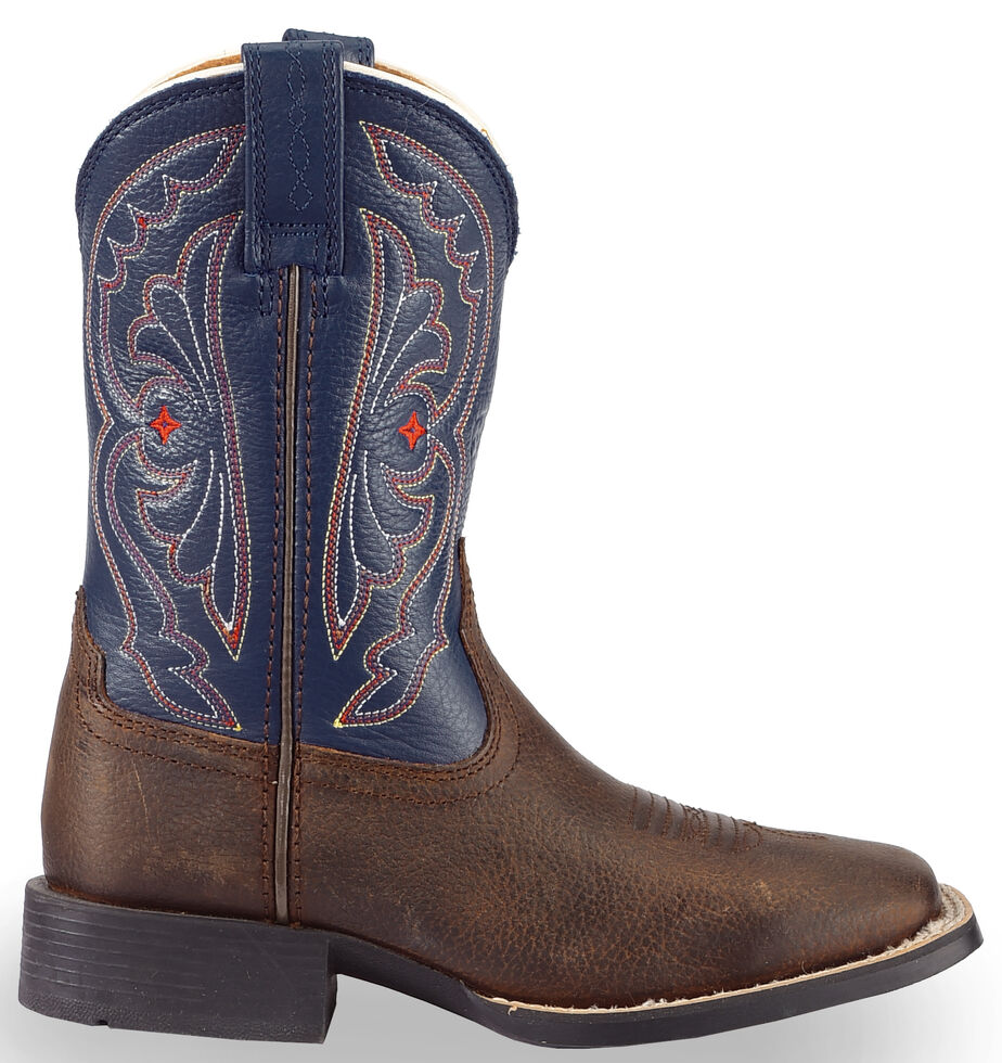 78dde0ba78b Ariat Youth Boys' Royal Blue Quickdraw Cowboy Boots - Square Toe
