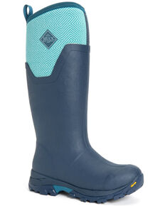 Muck Boots Women's Navy Arctic Ice Tall Rubber Boots - Round Toe, Navy, hi-res