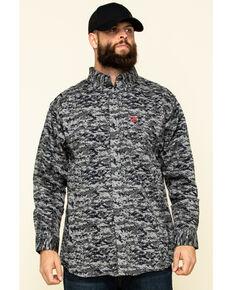 Ariat Men's Black Digi Camo FR Patriot Long Sleeve Work Shirt - Big , Black, hi-res