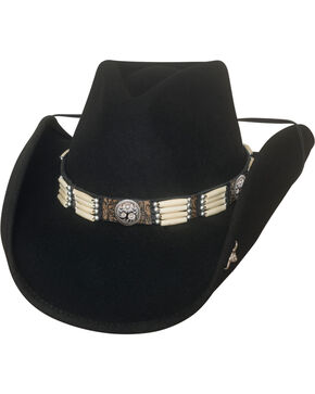 Bullhide Lakota Premium Wool Felt Cowboy Hat , Black, hi-res