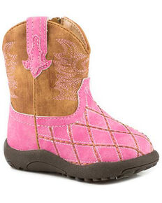 Roper Toddler Girls' Cross Cut Western Boots - Round Toe, Pink, hi-res