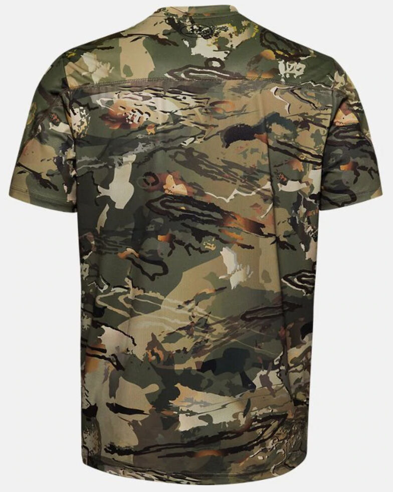 Under Armour Men's Forest Iso-Chill Brushline Short Sleeve Work Shirt , Camouflage, hi-res