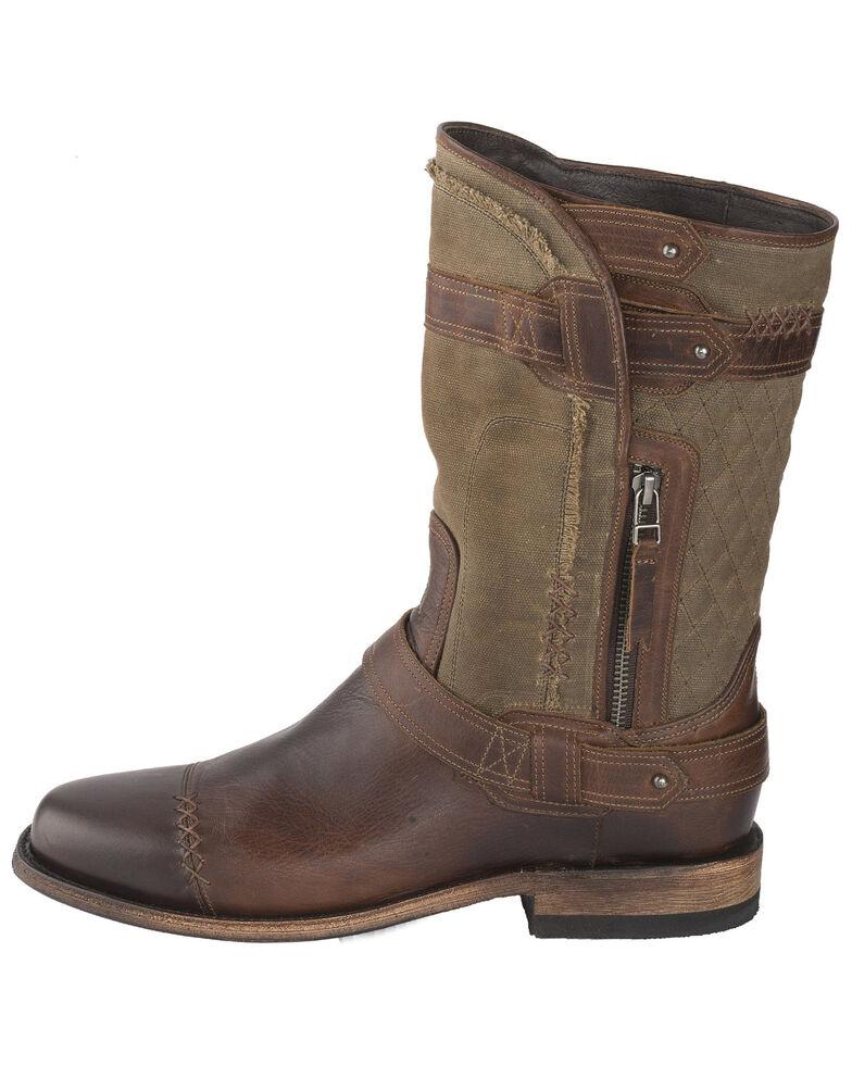 Lane Men's Dustoff Western Boots - Round Toe, Cognac, hi-res
