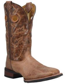 Laredo Men's Cannon Western Boots - Wide Square Toe, Tan, hi-res