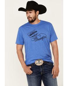 Wrangler Men's Sad Cowboy Songs Logo Graphic Short Sleeve T-Shirt , Blue, hi-res