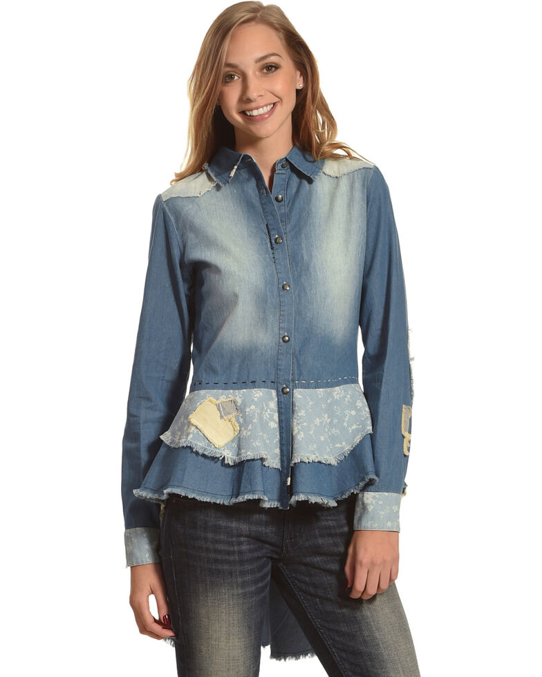 Tasha Polizzi Women's London Calling Shirt, Blue, hi-res