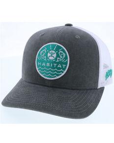 HOOey Men's Grey & White Element Habitat Circle Patch Mesh-Back Ball Cap  , Grey, hi-res