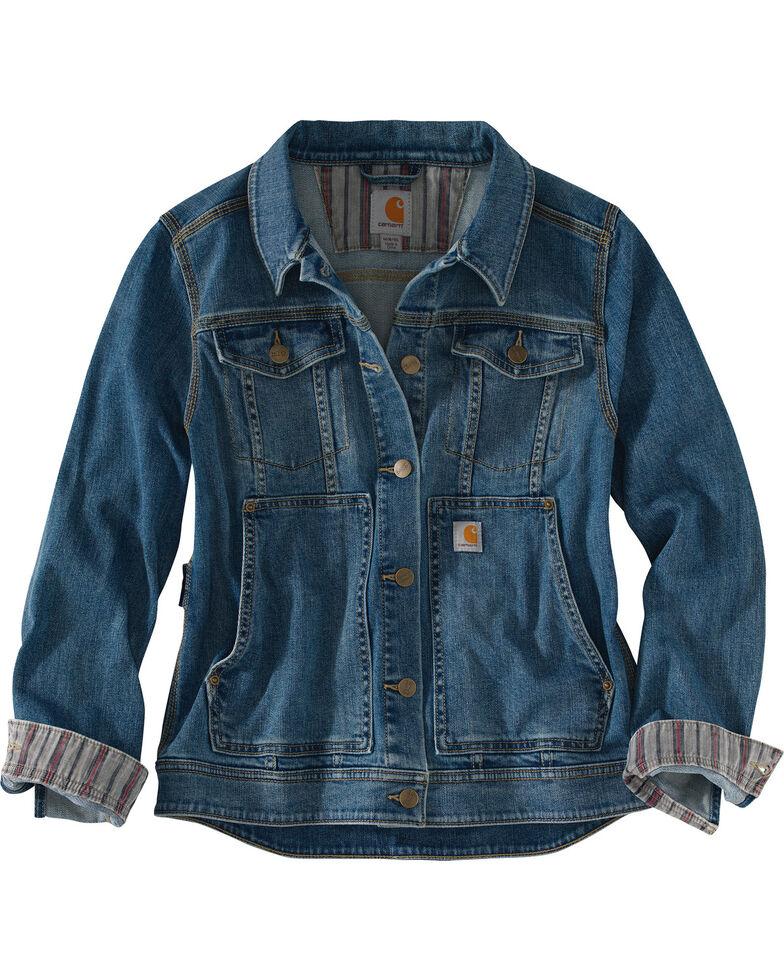 Carhartt Women's Indigo Benson Denim Jacket , Indigo, hi-res