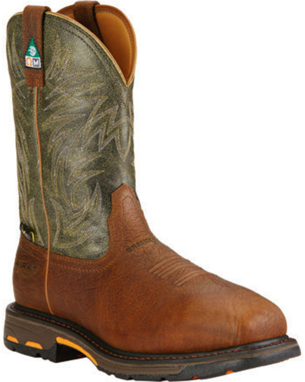 Ariat Men's WorkHog CSA Work Boots - Composite Toe, Brown, hi-res