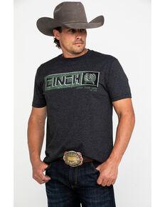 Cinch Men's Heather Black Logo Bar Graphic T-Shirt , Black, hi-res