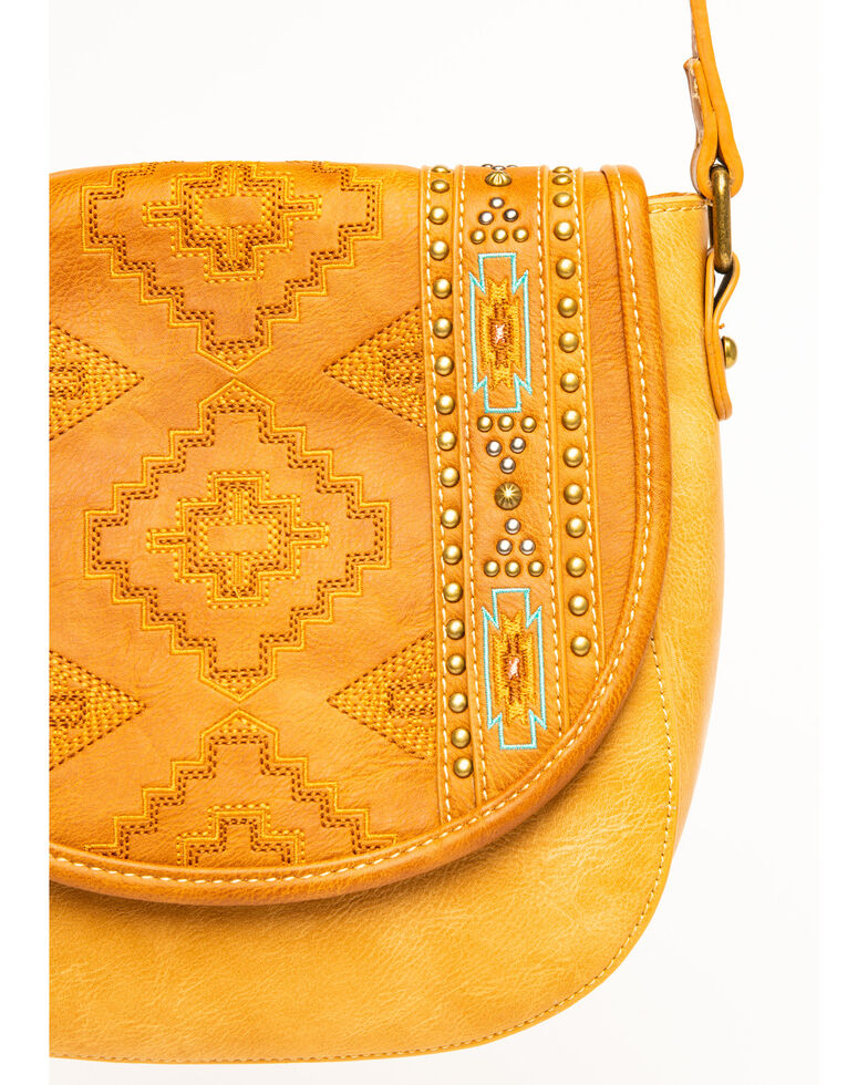 Montana West Women's Aztec Tooled Crossbody Bag, Brown, hi-res