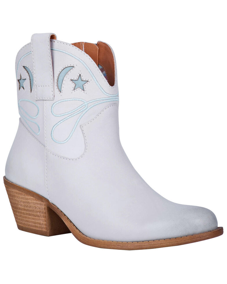 Dingo Women's Off White Urban Cowgirl Western Booties - Round Toe, Off White, hi-res