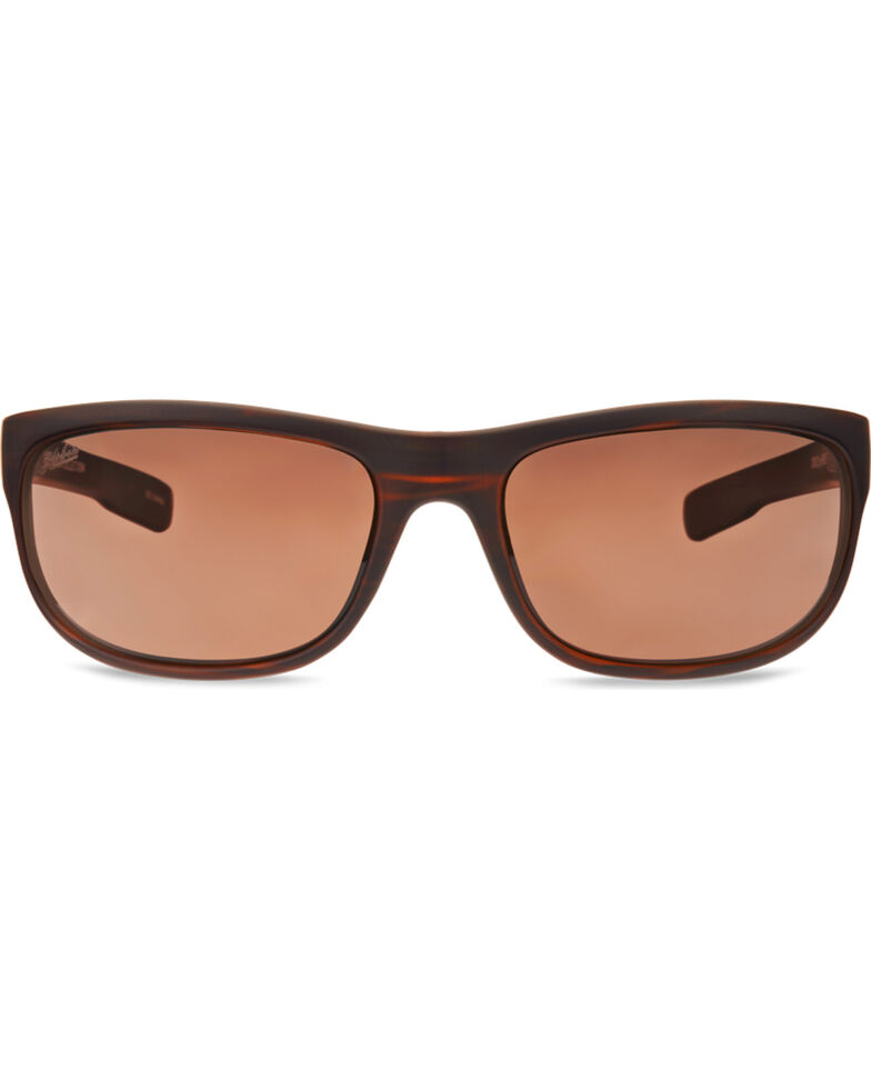 Hobie Men's Satin Brown Wood Grain Polarized Cruz Sunglasses  , Brown, hi-res
