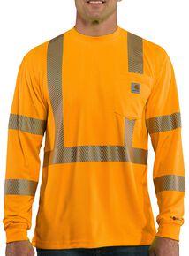 Carhartt Force High-Visibilty Class 3 Long Sleeve T-Shirt - Big & Tall, Orange, hi-res