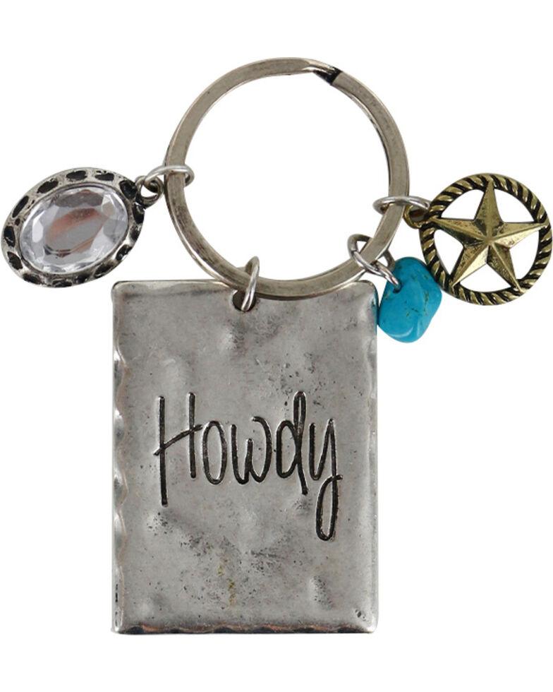 Shyanne Women's Howdy Keychain, Silver, hi-res