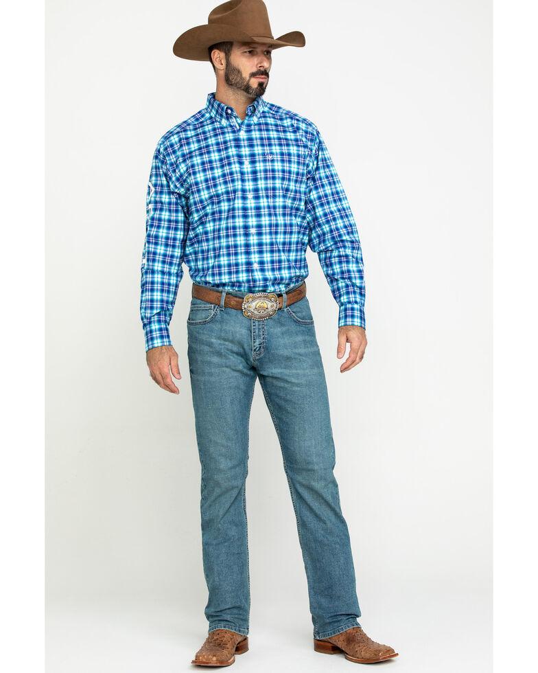 Ariat Men's Bennett Multi Plaid Long Sleeve Western Shirt , Multi, hi-res