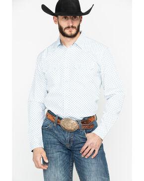 Cody James Men's Hip Camp Geo Print Long Sleeve Western Shirt: Big & Tall , White, hi-res