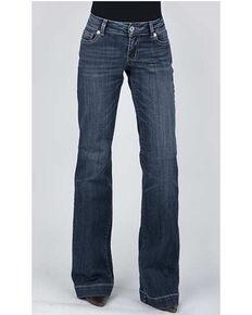 Stetson Women's 214 Trouser Flare Jeans , Blue, hi-res