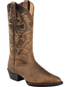 Ariat Men's Heritage Western Boots - Medium Toe, Distressed, hi-res