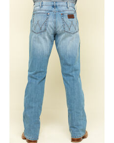Wrangler Retro Men's Round Top Light Stretch Relaxed Bootcut Jeans - Long , Blue, hi-res