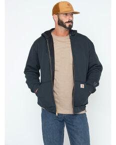 Carhartt Rain Defender Rutland Thermal-Lined Hooded Zip-Front Jacket, Black, hi-res
